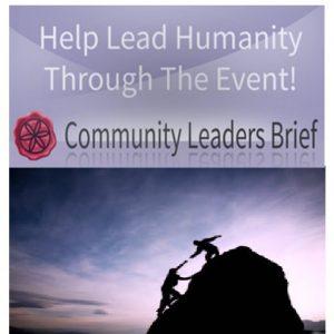Resumo informativo para os líderes comunitários preparem-se para a mudança